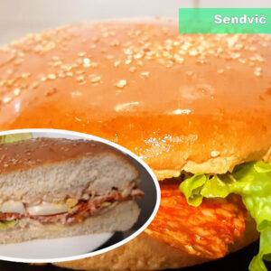 Sendvic Burger lepinja (sunka,prsuta ili kulen)
